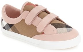Toddler Burberry Mini Heacham Sneaker $185 thestylecure.com