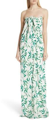 Caroline Constas Kaia Strapless Stretch Silk Gown