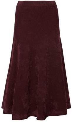 Jason Wu Ruffled Terry Midi Skirt