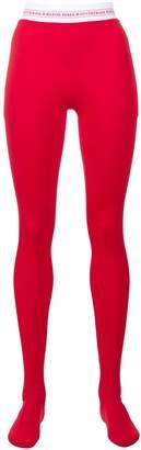 Marine Serre logo waistband tights