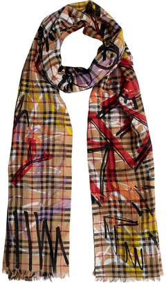 Burberry Graffiti Vintage Check scarf