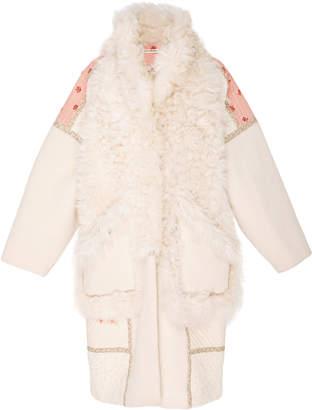Ulla Johnson Shag Shearling Coat