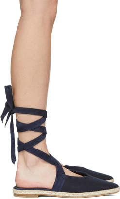 J.W.Anderson Navy Open Flat Sandals
