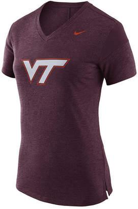 Nike Women Virginia Tech Hokies Fan V Top T-Shirt