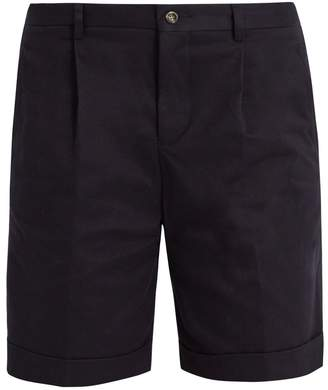 ÉDITIONS M.R Pleated-front slim-leg cotton shorts
