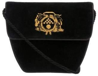 Bottega Veneta Vintage Velvet Crossbody Bag