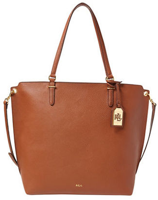 Lauren Ralph Lauren Abby Medium Faux-Leather Tote $178 thestylecure.com