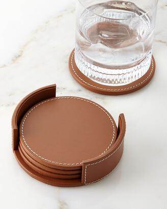 Ralph Lauren Home Wyatt Leather Coasters, Set of 4