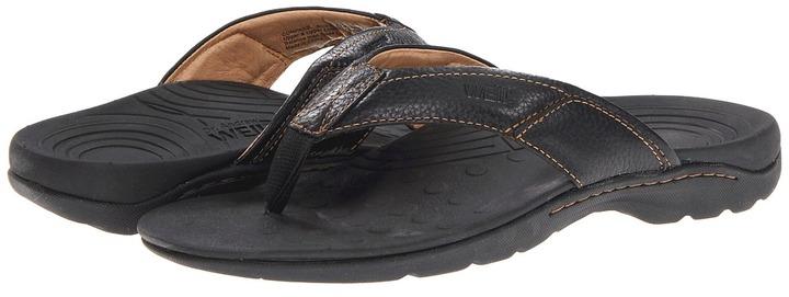 Orthaheel Compass Sandal (Black) - Footwear