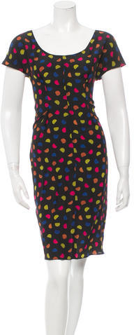prada Prada Silk Polka Dot Dress