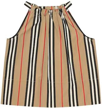 Burberry Striped cotton top