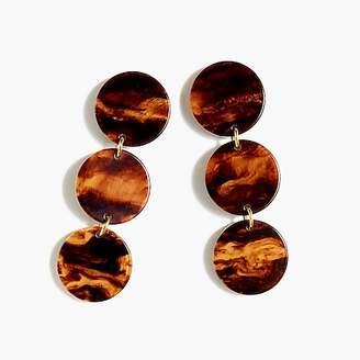 J.Crew Resin disc drop earrings