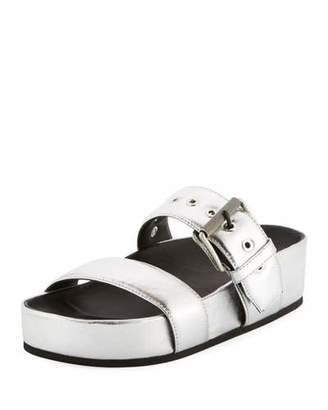 Rag & Bone Evin Metallic Platform Sandal, Silver