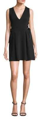 BCBGMAXAZRIA Lace-Up Side Mini Dress