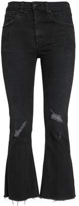 Rag & Bone Distressed High-Rise Kick-Flare Jeans