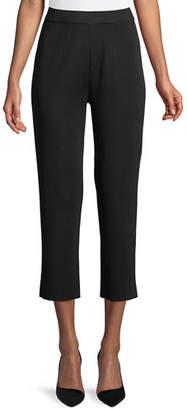 Misook Slim-Leg Knit Ankle Pants, Petite