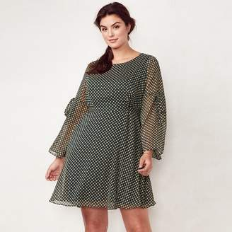 Lauren Conrad Plus Size Bell Sleeve Dress