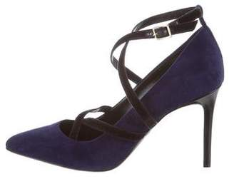 Lanvin Suede Pointed-Toe Pumps