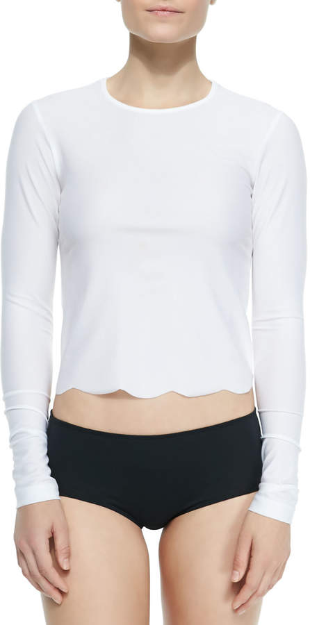 Cover UPF 50 Scallop-Cut Long-Sleeve Swim Tee 2