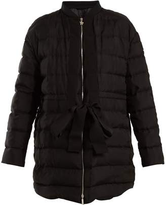 Moncler Gamme Rouge Ramasse silk quilted down jacket