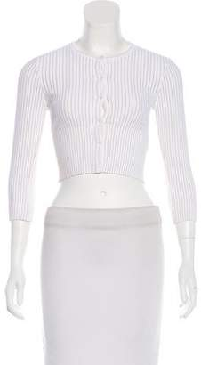 Alaia Cropped Knit Cardigan