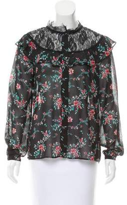 Walter Baker Long Sleeve Floral Top