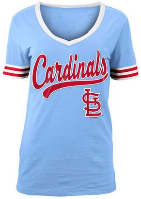 5th & Ocean Women's St. Louis Cardinals Retro V-Neck T-Shirt