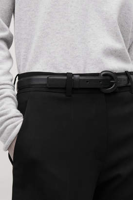 Cos COVERED-BUCKLE LEATHER BELT