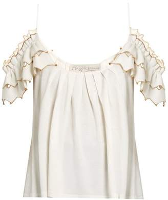 Alex Gore Browne Zigzag Wool And Cashmere Blend Top - Womens - Ivory