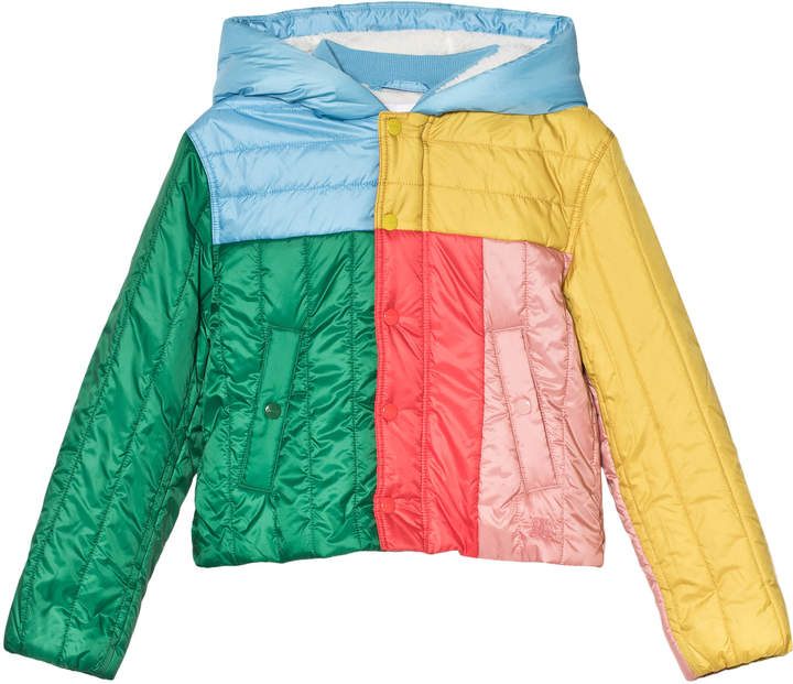 Burberry Multi Colour Bolton Hooded Coat with Fleece Lining