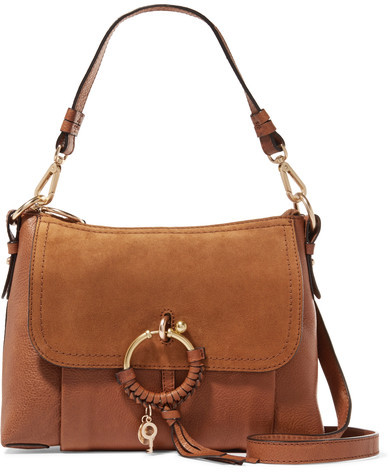 See by Chloé - Joan Small Suede-paneled Leather Shoulder Bag - Tan