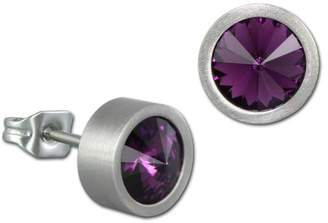 Swarovski Amello VESOS03F Crystal Steel Stud Earrings