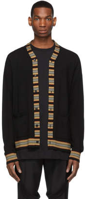 Burberry Black Icon Stripe Cardigan