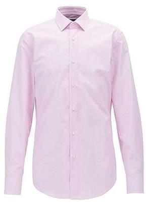 HUGO BOSS Slim-fit shirt in plain-check dobby cotton