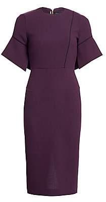 Roland Mouret Women's Bancroft Piped Bell-Sleeve Wool Dress
