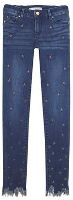 Tractr Metallic Star Ankle Jeans