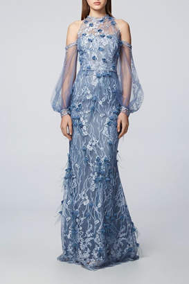 David Meister Long Sleeve Gown