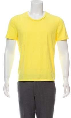 Maison Margiela Woven Crew Neck T-Shirt
