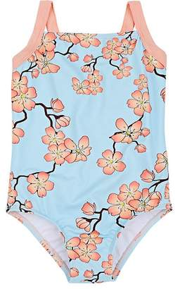 Submarine Kids' Cherry-Blossom-Print Tank Swimsuit