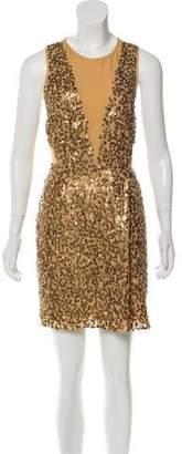 Tibi Silk Sequin-Embellished Dress
