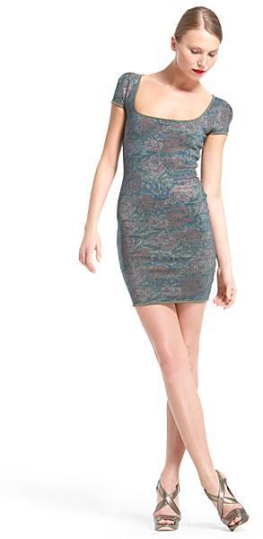 Zac Posen Floral Knit Dress