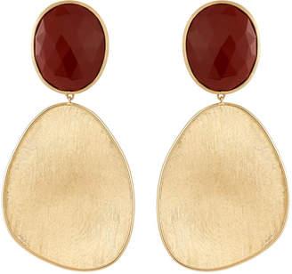 Marco Bicego Lunaria 18k Red Jasper Drop Earrings