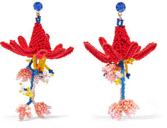Etro Beaded Earrings - Red