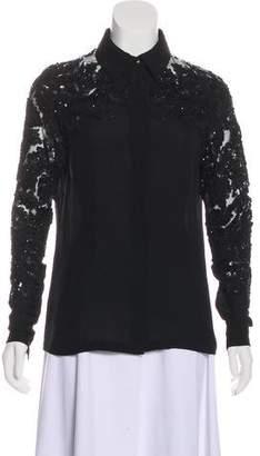 Elie Saab Silk Embellished Top