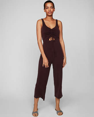 Express Cut-Out Ruched Jumpsuit