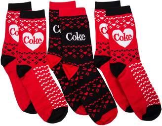 Brady Drew Womens 3pk and Black Coke Socks Gift Set