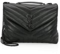 Saint Laurent Lou Lou Chevron Leather Shoulder Bag