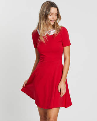 Dorothy Perkins Lace Collar Jersey Dress