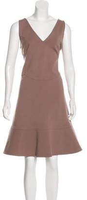 Valentino Flounced Sheath Dress