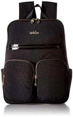 Kipling Sandra Black Patent Combo Laptop Backpack